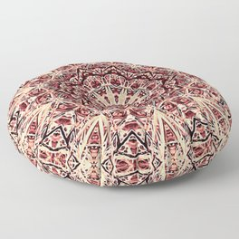 Beige Old Rose Mandala  Psychedelic Pattern Floor Pillow