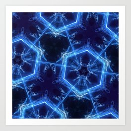 neon hexagon Art Print