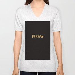 Meow - Gold Over Black Series Unisex V-Neck