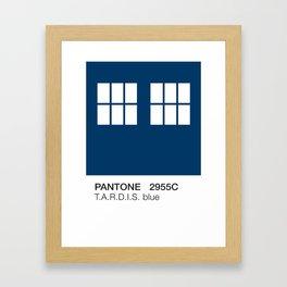 TARDIS Blue Pantone Framed Art Print