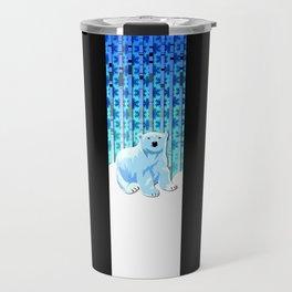 Lonely Canadian Polar Bear Travel Mug