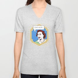 (Converse) Ruth Barcan Marcus Unisex V-Neck