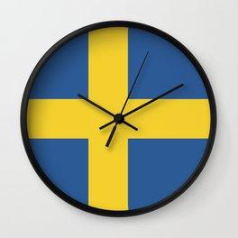 Sweden flag emblem Wall Clock