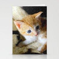 kitten Stationery Cards featuring Kitten  by Christine baessler