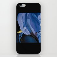iris iPhone & iPod Skins featuring Iris by Genevieve Chausse Designer