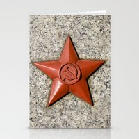 soviet Stationery Cards featuring Soviet star by Cozmic Photos