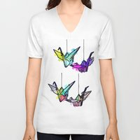 lights V-neck T-shirts featuring Lights by Sofia Gerona