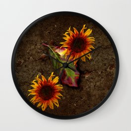 Sunflowers Vintage # Wall Clock