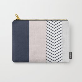 Navy Blush and Grey Arrow Carry-All Pouch