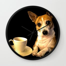 Tea Time with Puppy Wall Clock