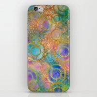 circles iPhone & iPod Skins featuring Circles by Klara Acel