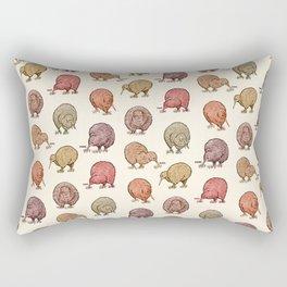 Hungry Kiwis – Warm Earth Tones Rectangular Pillow