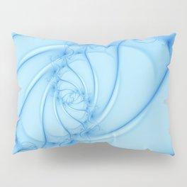 Blue Spiral 2 Abstract Fractal Art Pillow Sham