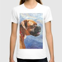 boxer T-shirts featuring Boxer by Good Artitude
