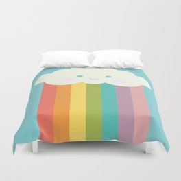 Proud rainbow cloud Duvet Cover
