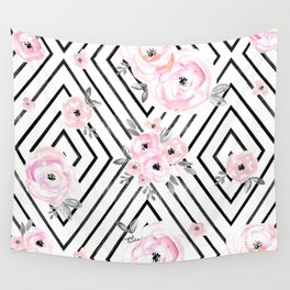 Blush Roses Mod Wall Tapestry