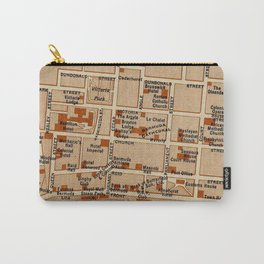 Vintage Map of Hamilton Bermuda (1922) Carry-All Pouch
