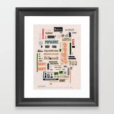 Soyez adorable à aimer  Framed Art Print