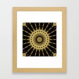 Golden extravaganza mandala Framed Art Print