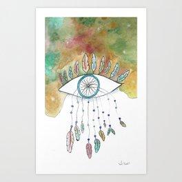 Endless Skies-Burnt Art Print