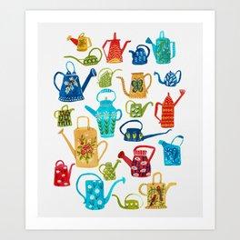 Waterimg Cans Art Print