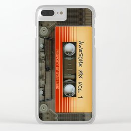 awesome transparent mix cassette tape vol 1 Clear iPhone Case