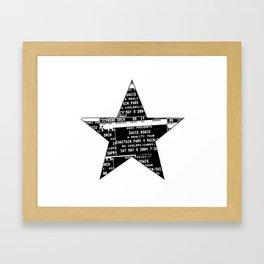 Bowie 2019-1 Framed Art Print