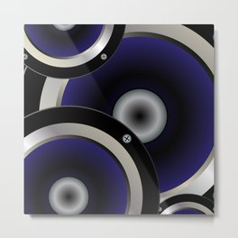 Music Speaker Background Metal Print