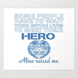 POLICE OFFICER'S DAUGHTER Art Print