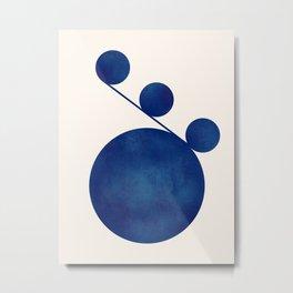 Modern Minimal Abstract Blue #5 Metal Print