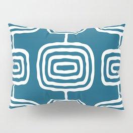 Mid Century Modern Atomic Rings Pattern 771 Peacock Blue Pillow Sham