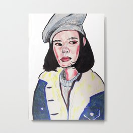Side Eye Siren Metal Print