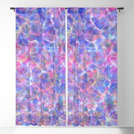 Abstract girly pink blue watercolor hand painted marble Blackout Curtain