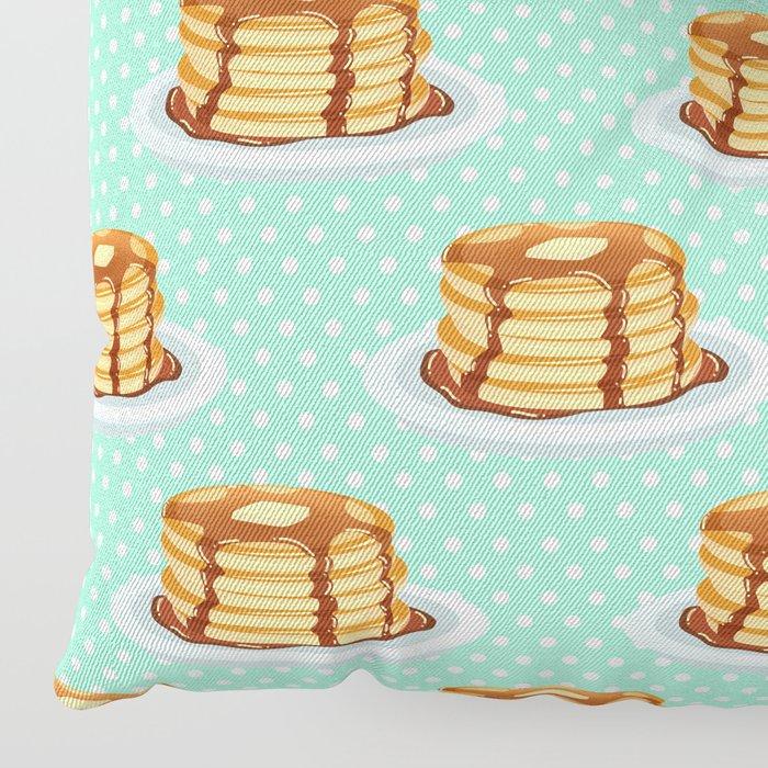Pancake Floor Pillows: Pancakes & Dots Pattern Floor Pillow By Tanyalegere