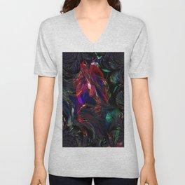 Vintage Fraktal colors  Unisex V-Neck