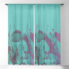 turquoise underwater Sheer Curtain