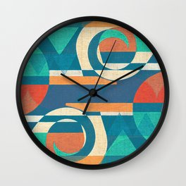 Mountains and Waves Wall Clock