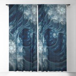 Frozen Underground. Digital Abstract Art  Blackout Curtain
