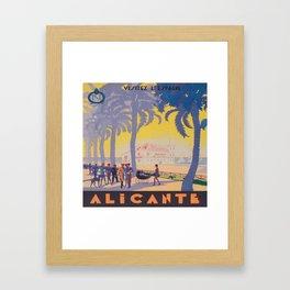 Alicante, Spain Vintage Travel Poster Framed Art Print