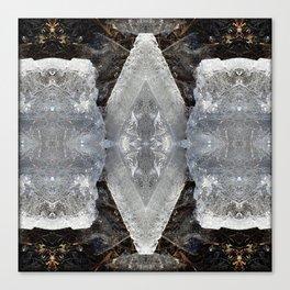 Diamond Ice Jewels Pattern Canvas Print