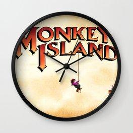 Monkey Island - Treasure found! Wall Clock