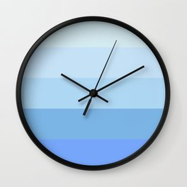 Blue Glass Pastel Stripe Wall Clock