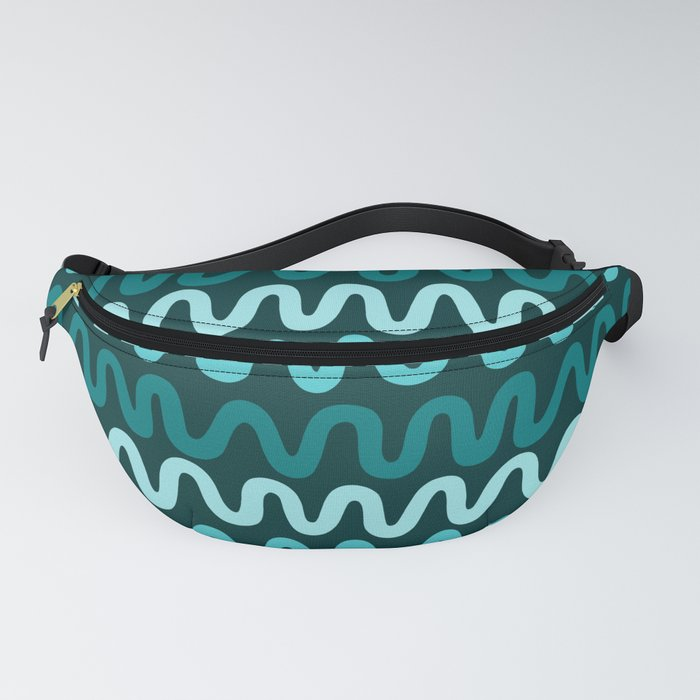 Bold Teal Waves Fanny Pack