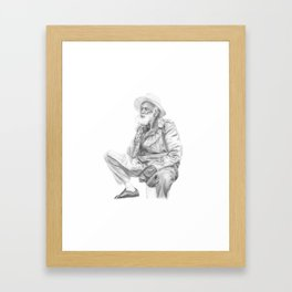 man with a hat Framed Art Print