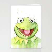kermit Stationery Cards featuring Kermit Portrait by Olechka