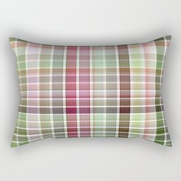 Red Rose with Light 1 Plaid 2 Rectangular Pillow