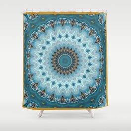 Serenely Amplif-Eyed Shower Curtain