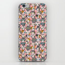 diverse sphynx cat allover print iPhone Skin