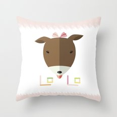 LOLO in ORIGAMI Throw Pillow