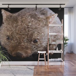 Young Wombat Low Poly Geometric Triangles Wall Mural